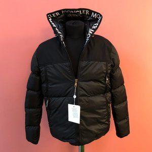 Moncler Black Hoodie Puffer Jacket